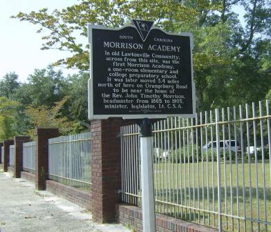The Morrison Academy Historical Marker