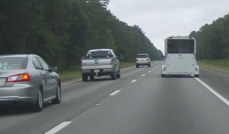 Traveling north on I-95