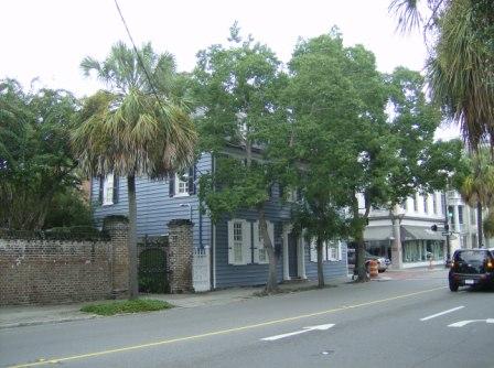 The house on a busy Sunday street
