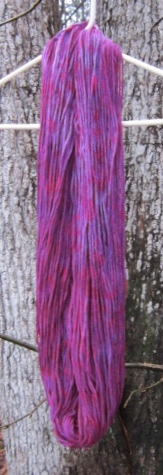 Dyeing Yarns At Catcatcher Corner, Part 4; Or Plum Delicious (3/6)