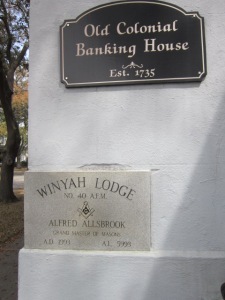 And the Winyah Lodge.  (A big shoutout to Reader Sharon who is researching Lodges.)