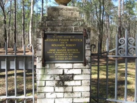 Here's a photo of the plaque at the Bostick Gate.  I took this years ago, perhaps around 2008.  I'll have to check on that.