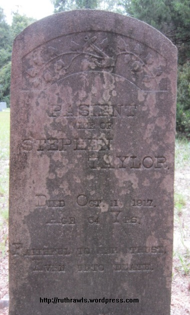 Patience Taylor, wife of Stephen Taylor