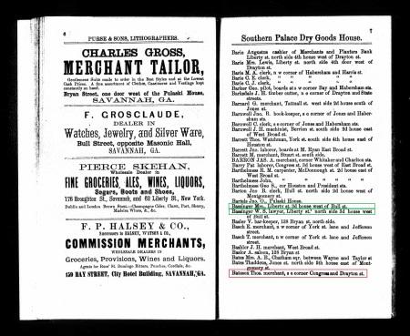 BatesonThomas Savannah Directory 1866