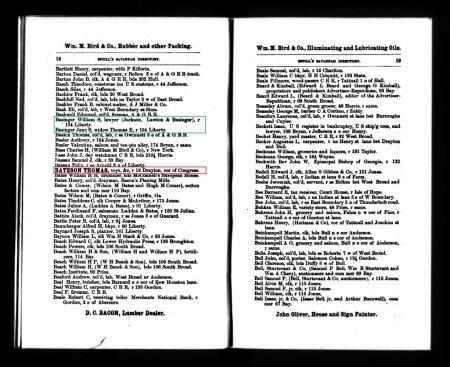 BatesonThomas Savannah Directory 1874 Residence