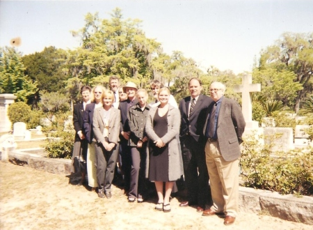 Family and friends at her memorial service at Bonaventure Cemetery.