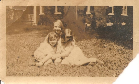 Perhaps around 1923 or 1924.  Genette is in the back of this trio.  The other two are most probably her cousins Garnett and Matilda.  They are at the Strahan house on the campus of the University of Georgia in Athens.