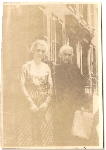 """Sugar's grandmother Mary """"Leslie"""" Basinger Lawton and an unidentified lady."""