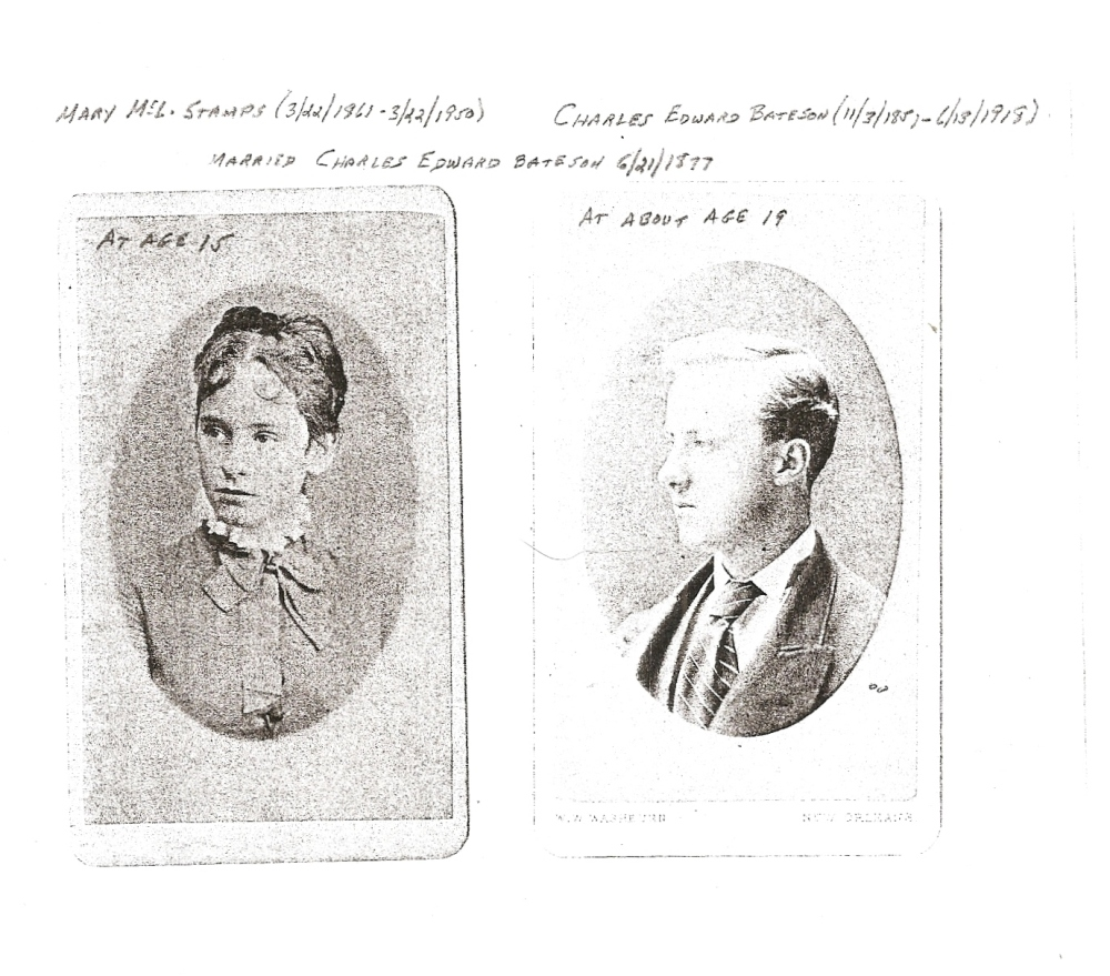 The Gold Mine in the Closet:  The Family of Charles Edward Wagstaff Bateson (3/3)