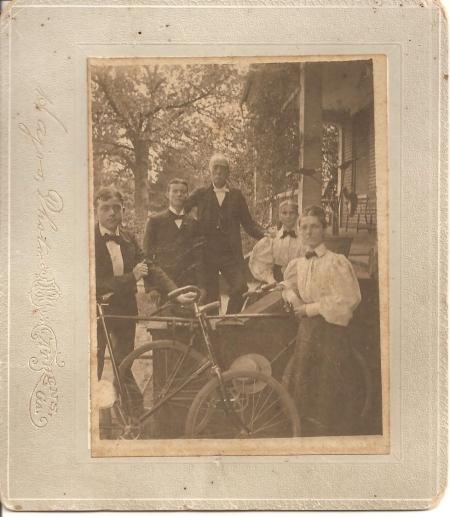 Two Basinger brothers, their father William Starr Basinger, their mother Margaret Roane Garnett Basinger, and their sister Margaret Basinger Strahan.