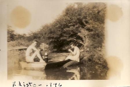 On Edisto Island in 1946 with Faith Murray.