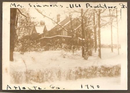 "In Atlanta, Georgia, in 1940. ""Mrs. Simmons, 161 Peachtree"". (Added 2/18/2015)"