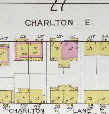 A little zoomage showing East Charlton Street. East Charlton Lane is just south.