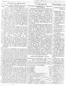 Newspaper images courtesy of Emily Garrard, a great-niece of Bessie Garrard.