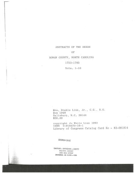 McCordJames Rowan County Abstracts of deeds 1753-17850001