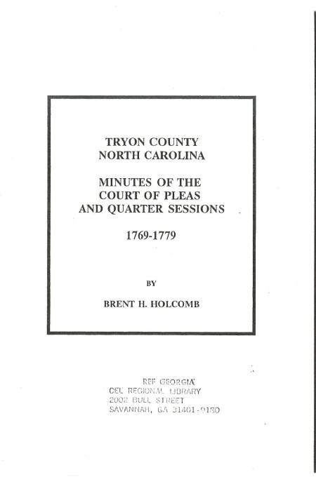 McCords in Tryon County Minutes 1769-17790001