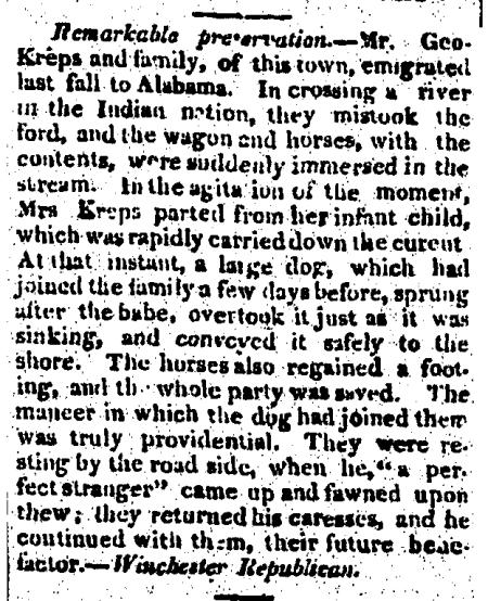 Augusta_Chronicle_1821-05-17 DogSavesInfant