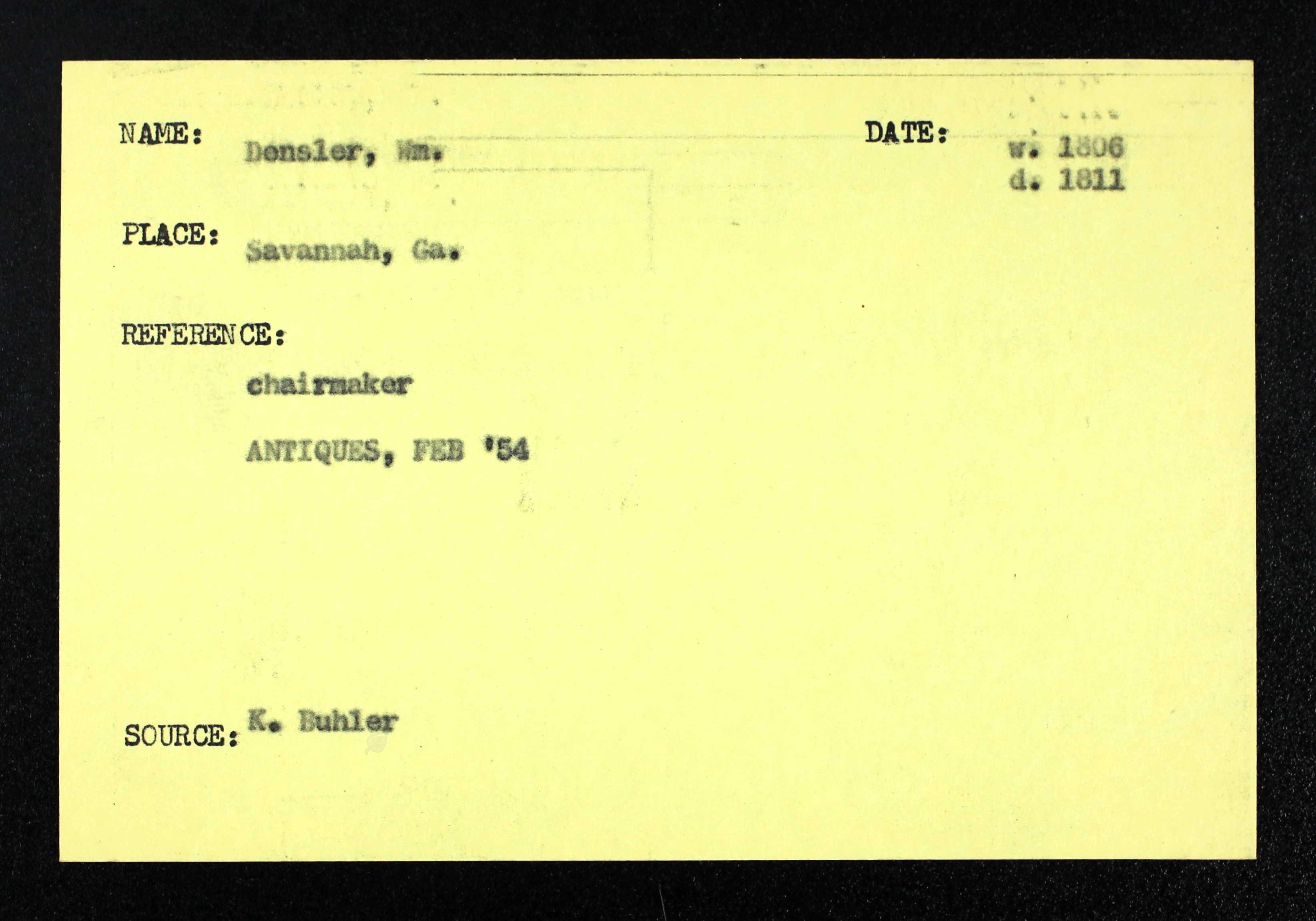DenslerWilliam chairmaker 1806 note 2